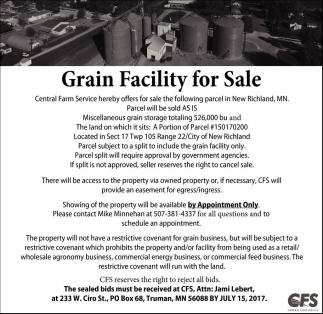 Grain Facility for Sale