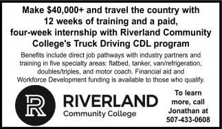 Riverland Community College's Truck Driving CDL program