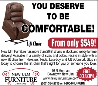 Attractive You Deserve To Be Comfortable!, New Ulm Furniture, New Ulm, MN