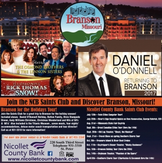 Join the NCB Saints Club and Discover Branson, Missouri!