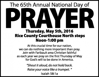 The 65th Annual National Day of PRAYER