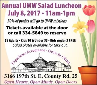 Annual UMW Salad Luncheon