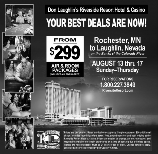 Your Best Deals Are Now!, Don Laughlin's Riverside Resort Hotel and Casino, Laughlin, NV