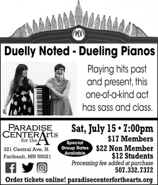 Duelly Noted - Dueling Pianos, Paradise Center for the Arts, Faribault, MN
