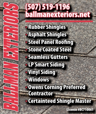 Shingles, Roofing, Gutters, Siding, Windows