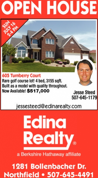 Open House, Edina Realty: Jesse Steed