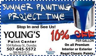 10% off per gallon on all Premium Interior Regal Paint