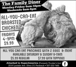 All You Can Eat Broasted Chicken Fridays