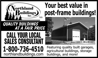Your best value in post-frame buildings!, Northland Buildings, Owatonna, MN