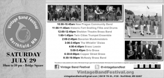 Ads For Vintage Band Festival in Southern Minn