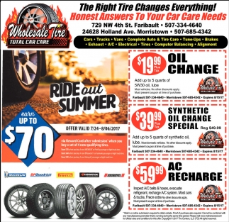 The Right Tire Changes Everything!, Wholesale Tire, Faribault, MN