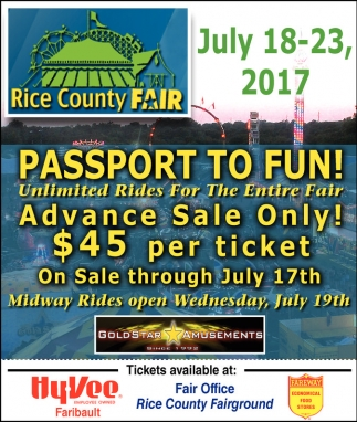 Passport to fun, Rice County Fair, Faribault, MN
