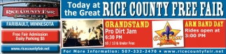 Today at the Great Rice County Free Fair