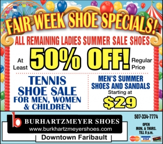 Fair Week Shoe Specials