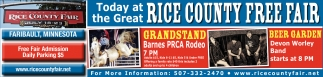 Ads For Rice County Fair in Southern Minn