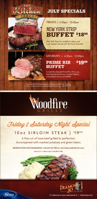 The Kitchen Buffet July Specials