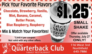 $1.25* Small Shake