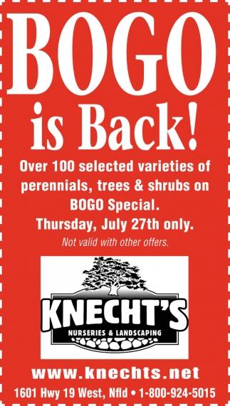 BOGO is Back!