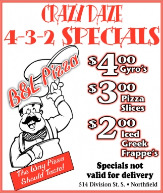 Crazy Daze 4-3-2 Specials