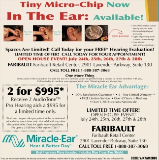 Ads For Miracle Ear - Faribault in Southern Minn