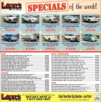 Specials of the week!