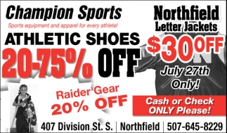 Athletic Shoes 20-75% off