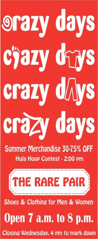 Summer Merchandise 30-75% off