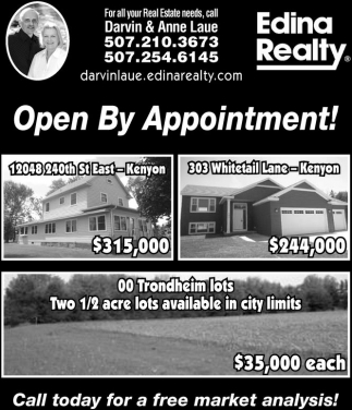 Open By Appointment!