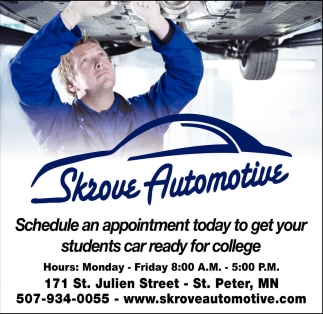 Schedule an appointment today to get your students car ready for college