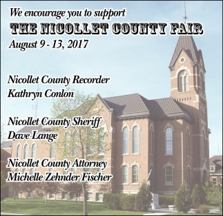 We encourage you to support The Nicollet County Fair