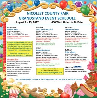 Grandstand Event Schedule