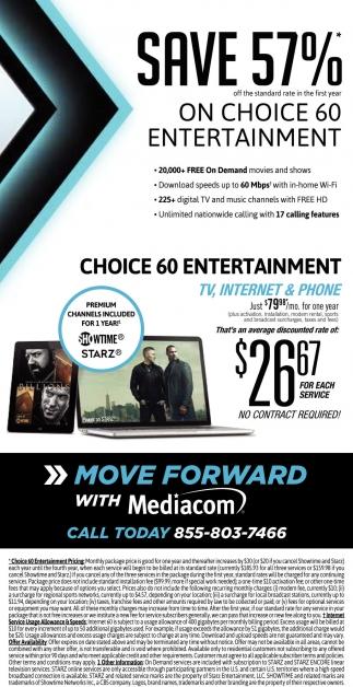 Save 57% on Choice 60 Entertainment