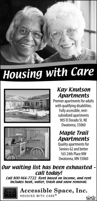 Housing with Care, Accessible Space, Inc. , Saint Paul, MN