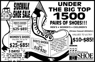 Sidewalk Shoe Sale, Owatonna Shoe Downtown Owatonna, Owatonna, MN