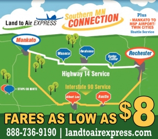 Southern MN Connection, Land to Air Express, Mankato, MN