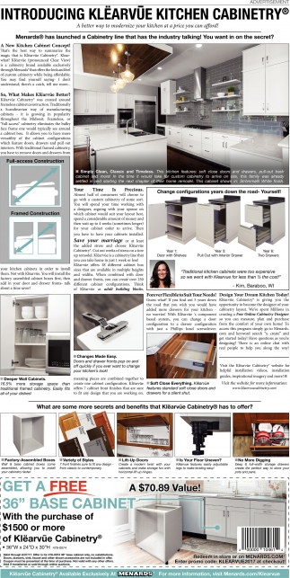 Introducing Klearvue Kitchen Cabinetry