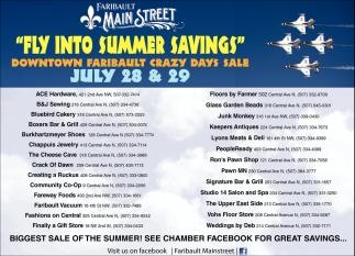Fly Into Summer Savings