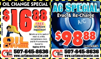 OIL CHANGE SPECIAL AC SPECIAL
