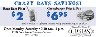 Crazy Days Savings!