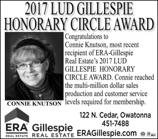 2017 Lud Gillespie Honorary Circle Award