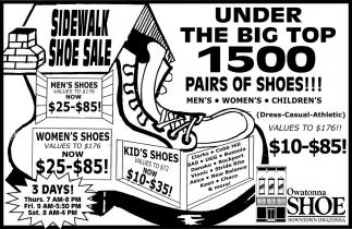 Sidewalk Shoe Sale