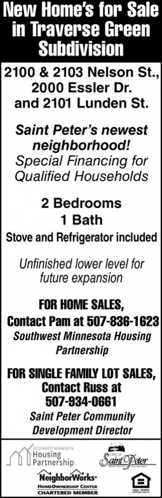 New Home's for Sale in Traverse Green Subdivision