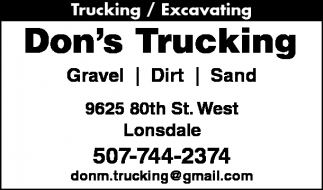 Trucking / Excavating