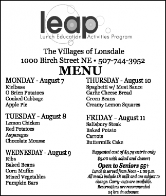 Leap, The Villages Of Lonsdale, Northfield, MN
