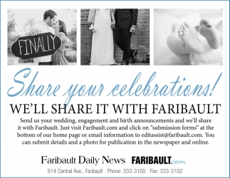 Share your celebrations!
