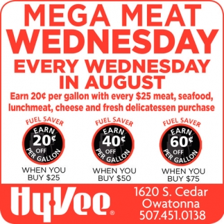 Mega Meat Wednesday Every Wednesday in August