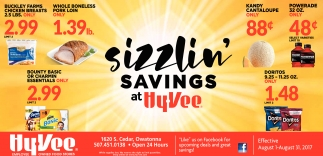 Sizzlin' Savings at Hy-Vee