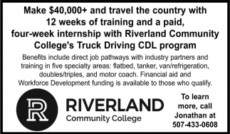 College's Truck Driving CDL Program, Riverland Community College, Austin, MN