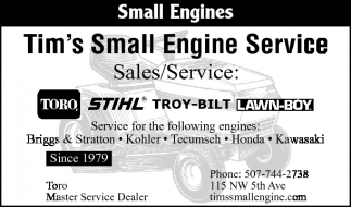 Small Engines, Tim's Small Engine Service