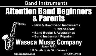 Band Instruments, Waseca Music Company